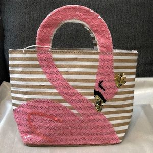 Mud pie Flamingo tote-purse-bag